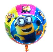 5 X Cartoon Foil Balloon Minion Birthday Party Decoration Round 45cm