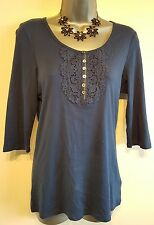 Size 12 Top Navy Blue M&S COLLECTION Excellent Condition Women's Casual
