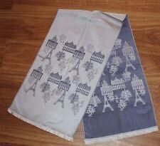 3fe678645512 Estate -Vintage 1950s 60s Paris Eiffel Tower Silk Souvenir Scarf -Made in  France