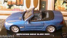 MERCEDES BENZ SL600 SL 600 CABRIOLET 2003 BLEU 1/43 NEW BLUE ROADSTER DEAGOSTINI