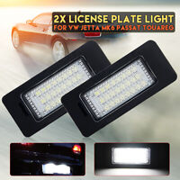 2x LED License Number Plate Light Lamps Fit For VW Jetta MK6 Passat B7 Touareg 2