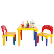 Letter Kids Table&Chairs Play Set Toddler Child Toy Home Activity Fun Furniture
