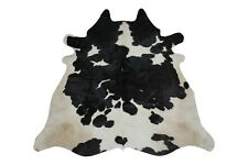 Natural Black and White Cowhide Rug 5x4 ft Top Quality Brazilian Cow Skin Sale