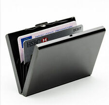 Anti-scan Metal Case Slim RFID Blocking Wallet Clip ID Credit Card Holder
