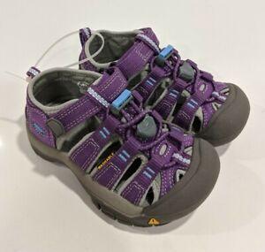 NEW KEEN NEWPORT H2 Little Girl 9 SANDAL PURPLE Waterproof Water Shoe