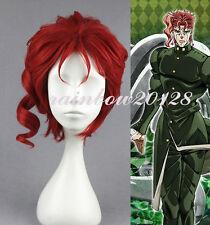 Red JoJo's Bizarre Adventure Noriaki Kakyoin Short Anime Cosplay Wig
