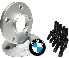 12mm Hubcentric Wheel Spacers 10 Black Lug Bolts BMW E36 E46 323 325 328 330 M3