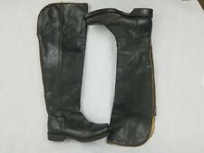 Frye 77238 Black Leather Tall Zip Motorcycle Over knee Boots Women's Size 6b