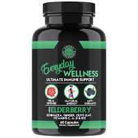 Everyday Wellness Formula Immune Support w/ Elderberry,Vitamin C & Ginger