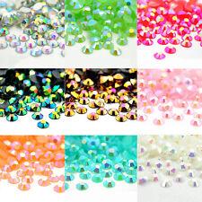 2000Stk 3D Nail Art Nageldesign AB Kristall Strasssteine Schmuck Acryl Diamanten