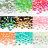 2000Pcs AB Crystal Iridescent Nail Arts Rhinestones Glitter Gems Flat Back-Beads