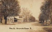 D45/ Unionville Center Ohio Marysville RPPC Postcard 1913 Main Street Store Home