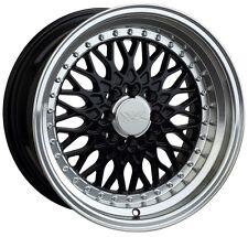 XXR 536 16X8 Rims 4x100/114.3 +0 Black Wheels (Set of 4)