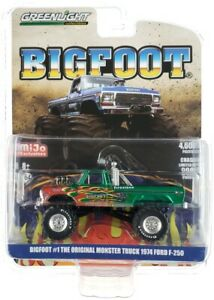 Chase 1974 FORD F-250 MONSTER TRUCK BIGFOOT #1 W/FLAMES 1/64 GREENLIGHT 51282