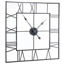 Extra Large Black Skeleton Square Metal Wall Clock Urban Chic Vintage Industrial