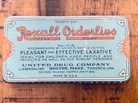 Vintage Advertising Antique Rexall Orderlies Ideal Laxative Medicine Tin Empty