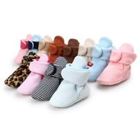 Baby Shoes Girl Boy Snow Boots Infant Toddler Booties 0-6/6-12/12-18 Months