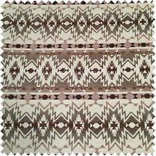 Suave Tejido Geométrico Diseño Color Marrón Felpilla Tapicería Calidad Tejido