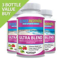 Daily Garcinia Cambogia Weight Loss Capsules Diet Caps Raspberry & Green Coffee