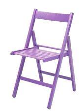 4x sedia in legno pieghevole di faggio pieghevole colore lilla arredo casa