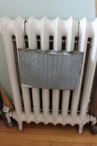 Antique Galvanized Metal Radiator Hanging Humidifiers c. 1920's Set of 3