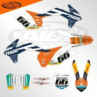 KTM Graphics Kit for a 2013 - 2014 SX SXF XC XCF Decals kit with custom rider ID