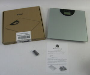BalanceFrom Silver & Glass Digital Body Weight Bathroom Scale LCD 400lb Max