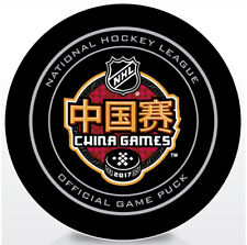 2017 NHL China Games Official Game Puck Los Angeles Kings vs Vancouver Canucks