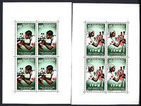 Gabun MiNr. Block 4-5 postfrisch MNH Rotes Kreuz, Falz im BR (C386