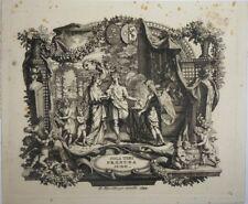 Eau-forte, vignette baroque, Soli tibi pronuba Juno.9