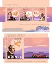 Rudolf Diesel Motor Vehicles Cars Autos Transport Guinea-Bissau MNH stamp set