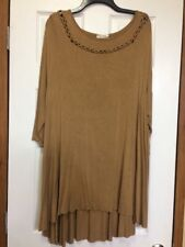 Lady's World Brown Tunic Or Mini Dress Size XL
