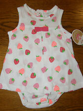 NWT Baby Girl 1 Piece Outfit, sz 6-9 MO, CARTER'S CHILD OF MINE, STRAWBERRIES