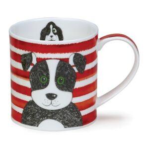 Dunoon Mug - Orkney Shape - Stripy Dogs