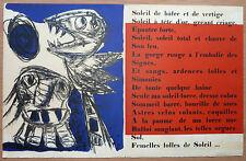KAREL APPEL / HAINE 1954 RARE ESTAMPE COBRA LITHOGRAPHIE POEME E LOOTEN  ++