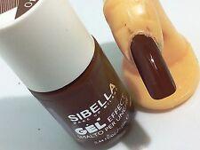 Gel Smalto Unghie Super Color Cioccolato + Top Coat Semipermanente No UV