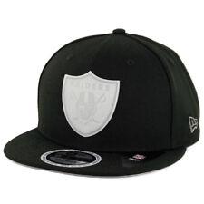 "New Era 950 Oakland Raiders ""Glow Game"" Snapback Hat (BK) Glow in the Dark Cap"