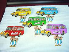 5 Grande coca cola + Michelin pins avec Astérix et amis dans le bus Set