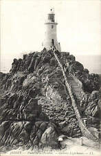 Jersey. Corbiere Lighthouse # 100 by LL / Levy. Black & White.