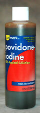 PVP Povidone Betadine Iodine Prep Solution 8 oz.