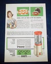 A076-Advertising Pubblicità-1959-FRULLATORE ELETTRICO CON MACINA CAFFE-BIALETTI