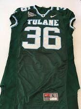7db862f55 Game Worn Used Nike Tulane Green Wave Football Jersey  36 Size L