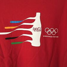 COCA COLA RIO 2016 OLYMPICS SS RED CREW NECK T-SHIRT SIZE XL