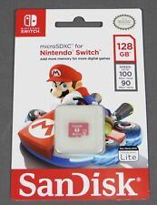 Official SanDisk 128GB Micro SD XC Memory Card for Nintendo Switch & Lite