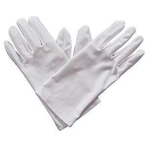Erwachsene Kurz Herren Weiß Zauberer Kostüm Weihnachten Halloween Handschuhe