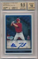 MIKE TROUT 2009 BOWMAN CHROME RC ROOKIE AUTOGRAPH SP AUTO BGS 9.5 GEM MINT 10
