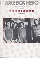 "FOREIGNER ""JUKE BOX HERO"" PIANO/VOCAL/GUITAR SHEET MUSIC-NEW RARE 1981 MINT!!"