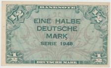 BRD Eine Halbe Deutsche Mark Serie 1948