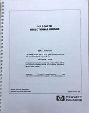 Hp 85027d Directional Bridge Operating Amp Service Manual Pn 85027 90023