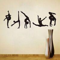 5 Gymnastik Muster Tanzen Wandaufkleber PVC Wandkunst Aufkleber Home Decor